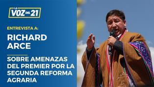 Richard Arce sobre amenazas del premier Guido Bellido por la Segunda Reforma Agraria