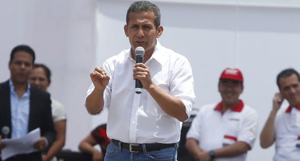 Ollanta Humala  se mostró deacuerdo con la aprobación de la propuesta de la 'curul vacía'. (Perú21)