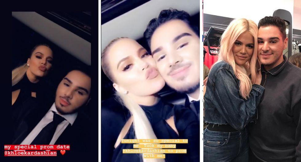 Khloé Kardashian acompaña a fanático a su fiesta de promoción. (Foto: Instagram)