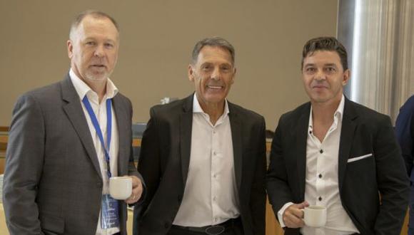 Russo y otros 22 entrenadores de clubes sudamericanos participaron en la primera Cumbre de Entrenadores de la Conmebol Libertadores. (Foto: Conmebol)