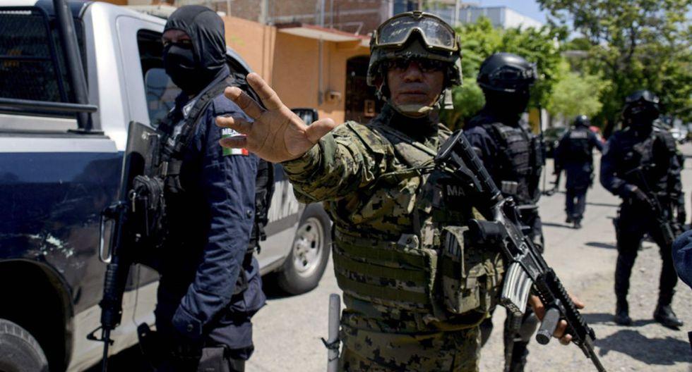 El edificio de la comandancia en México mostraba numerosos impactos de arma de fuego tras el ataque. (Foto referencial: AFP)