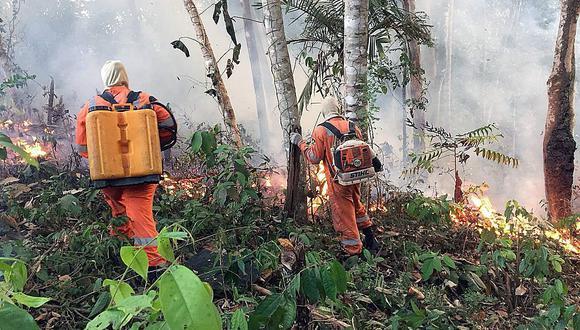 Brasil ya empezó a desplegar 44,000 militares en la zona para combatir los incendios. (Foto: EFE)