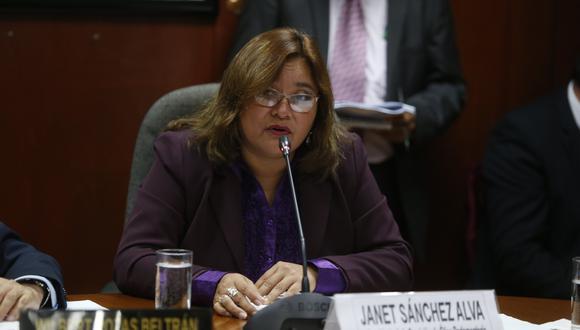 Janet Sánchez, de la bancada Peruanos por el Kambio (PPK), informó que el grupo que preside sesionará de manera extraordinaria el próximo martes 12 para evaluar el caso de Lescano. (Foto: GEC)