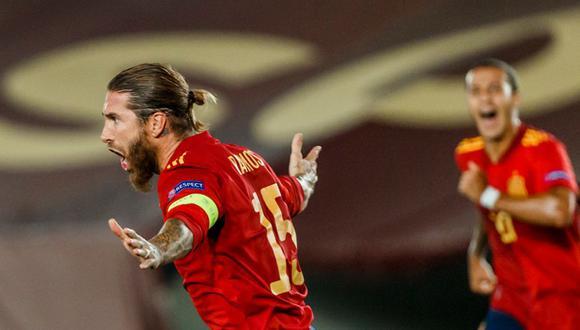 Sergio Ramos sumó 23 goles con la selección de su país en Madrid. (Foto: @SeFutbol)