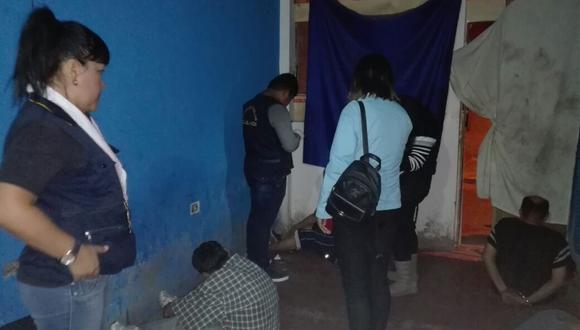 La Policía allanó viviendas en el distrito de Gregorio Albarracín. (Richard Luna)