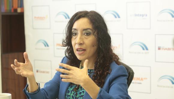 Giovanna Prialé aseguró que el proceso es por Internet para evitar que la gente salga de su casa. (Diana CháveZ/GEC)