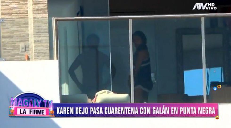 Karen Dejo fue capta en Punta Negra rompiendo la cuarentena por coronavirus. (Foto: ATV)