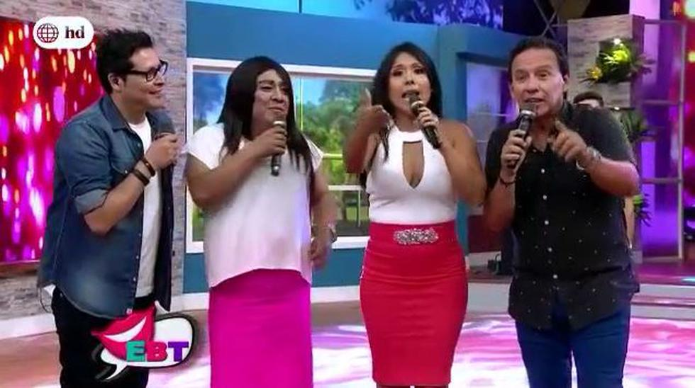 Tula Rodríguez incomodidad luego de promocionar el programa de Gisela Vacárcel por América Televisión. (EBT)