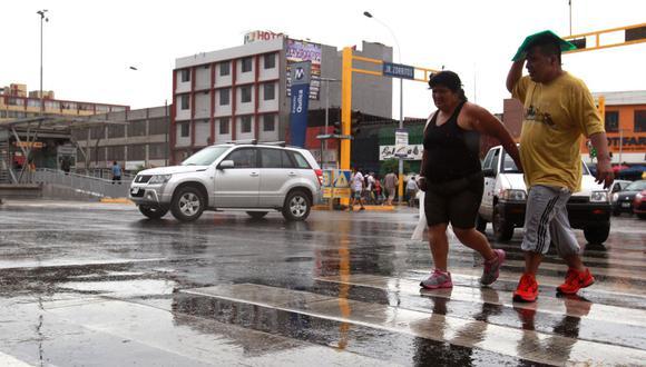 Senamhi pronostica lloviznas durante la madrugada. (Foto: Andina)