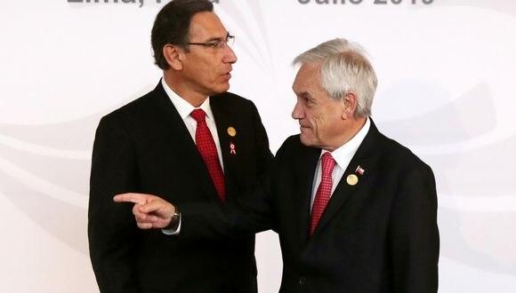 """Piñera dijo que cuando habla con el presidente Martín Vizcarra le menciona """"bienvenida la inversión peruana en Chile"""". (Foto: Reuters)"""