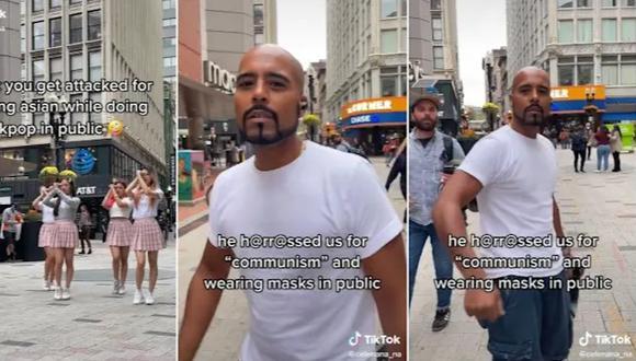 Un hombre acosó a un grupo de jóvenes de origen asiático en EE.UU. por usar mascarilla en un espacio público. (Foto: Captura)