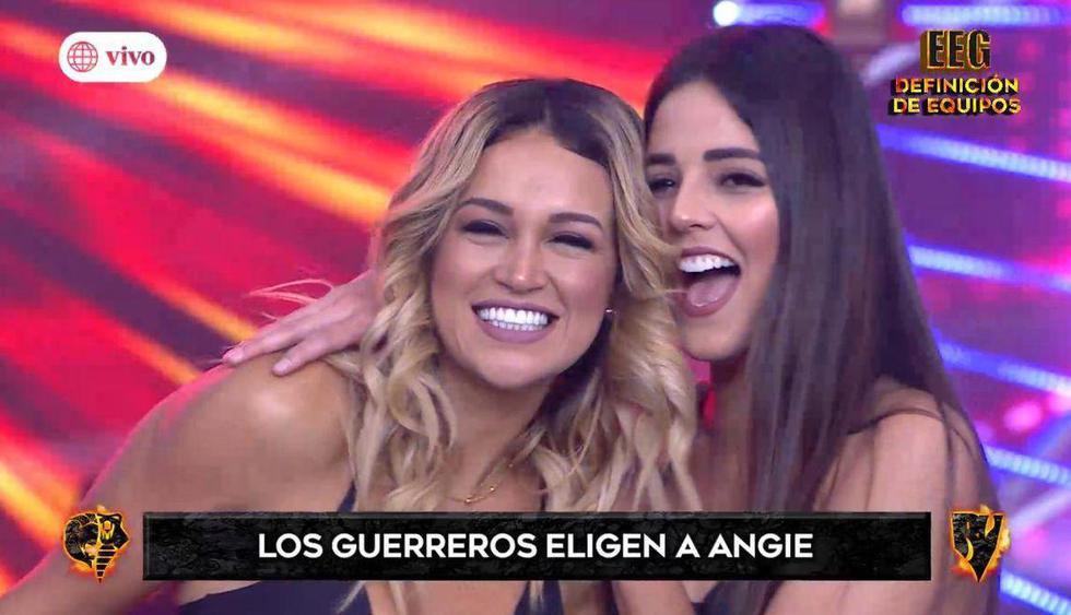 """Angie Arizaga regresó a """"Esto es guerra"""" a menos de una semana de anunciar que se tomaría un tiempo. (Imagen: América TV)"""
