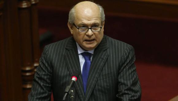 Pedro Cateriano sustentó presupuesto de 2016. (Mario Zapata)