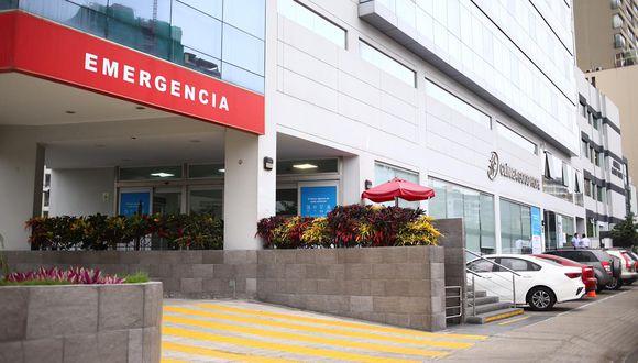 Clínica Good Hope lamentó fallecimiento de una persona ocurrido esta mañana en el establecimiento. (Foto: Hugo Curotto/GEC)