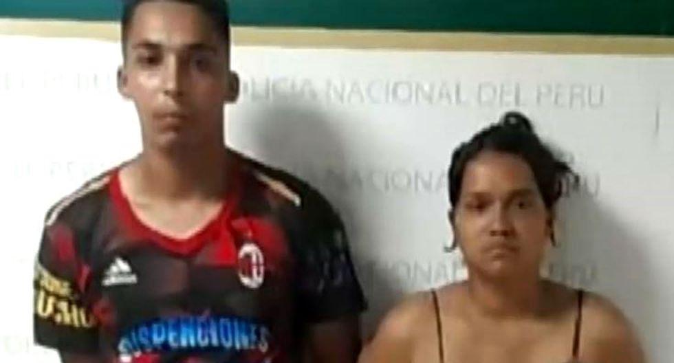La mujer fue identificada como Endeles Infantes Marquez fue capturada al igual que Gian Carlo López Gallardo, progenitor de la niña. (Captura)