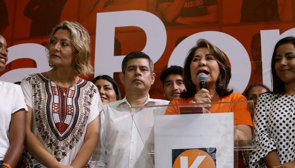Fuerza Popular obtuvo el 7.1% de los votos válidos según el Flash América TV - Ipsos Perú. (Foto: GEC).