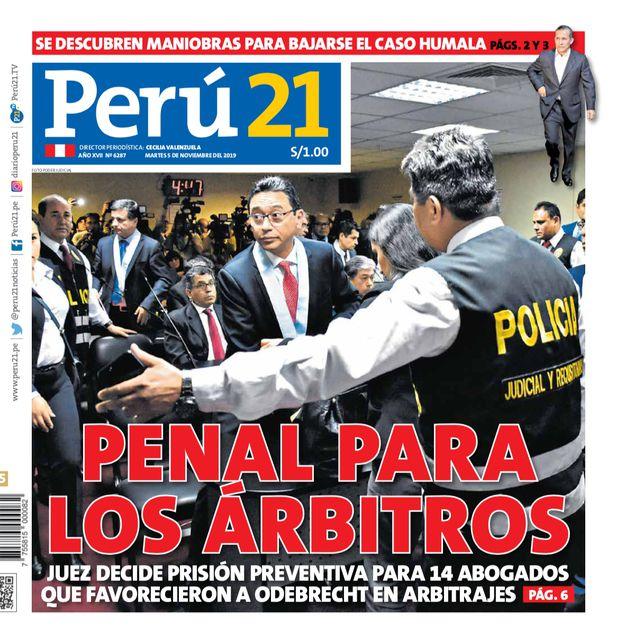 Portada Perú21 (05/11/2019)