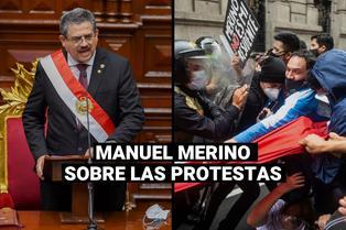 """Manuel Merino sobre las protesta en el país: """"Se van a tranquilizar en el más corto plazo"""""""