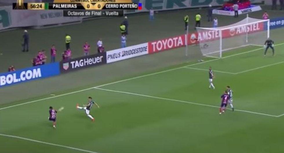 Así fue el golazo de Arzamendia a Palmeiras por la Copa Libertadores 2018. (Captura: YouTube)