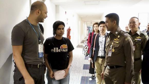 Al-Qunun tenía la intención de llegar a Australia, donde quería pedir asilo, tras recibir amenazas de muerte de su familia. (AFP).