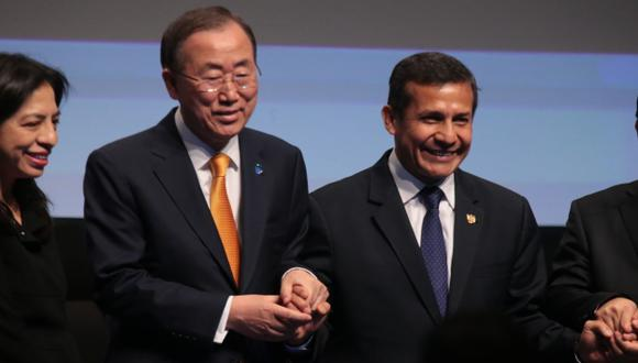 OPORTUNIDAD. Humala y Ban Ki-Moon destacan rol de los jóvenes. (Martín Pauca)