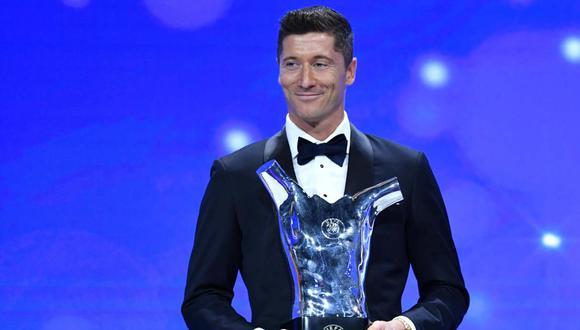 Robert Lewandowski elegido mejor jugador UEFA. (Foto: EFE)