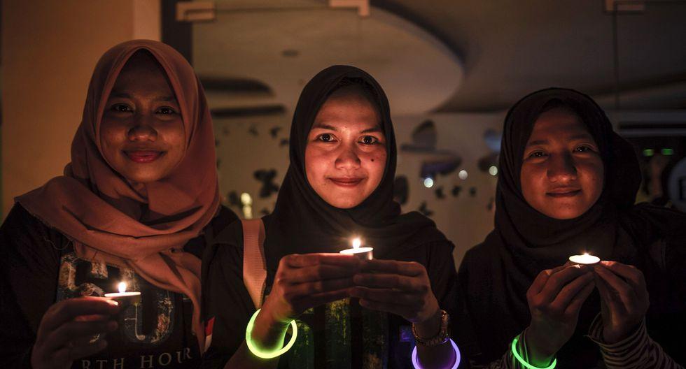 12. Hora del Planeta en Indonesia (Foto: AFP)