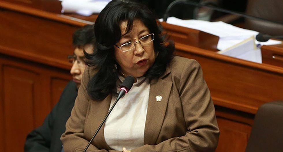 La suerte de María Elena Foronda dependerá del pleno del Congreso, que deberá debatir si aprueba o no la sanción. (Foto: GEC)