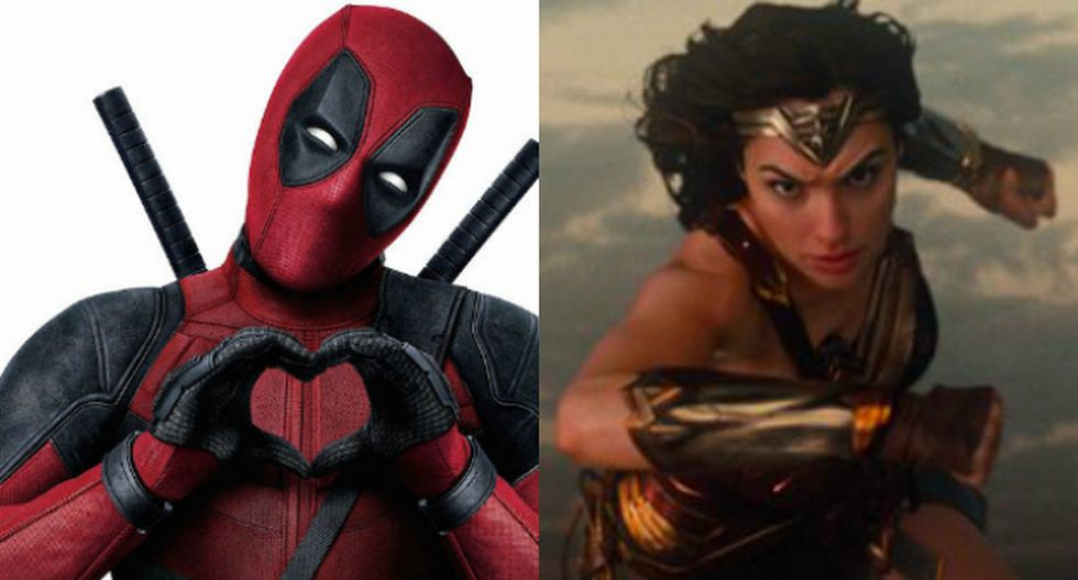 Deadpool felicitó a Wonder Woman en Instagram (Composición)