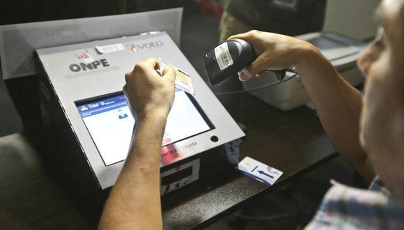 Son 1'729.028 electores de todo el Perú son los que harán uso del voto electrónico. (Foto: USI)