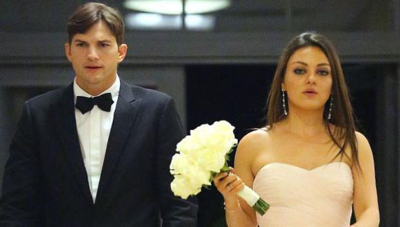 Ashton Kutcher y Mila Kunis se casaron en secreto. (eonline.com)