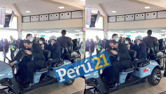 Pedro Castillo y su esposa hacen escala técnica en Panamá