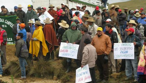 Protesta no afectó producción. (Mari Liss Núñez)