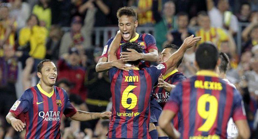 Neymar marcó un tanto en la goleada del Barcelona sobre el Valladolid. (EFE)