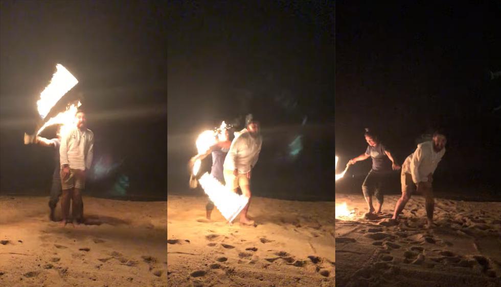 Estuvo a punto de sufrir terrible accidente tras ser parte de show de malabarismo con fuego. Ocurrió en Tailandia. (ViralHog / YouTube)