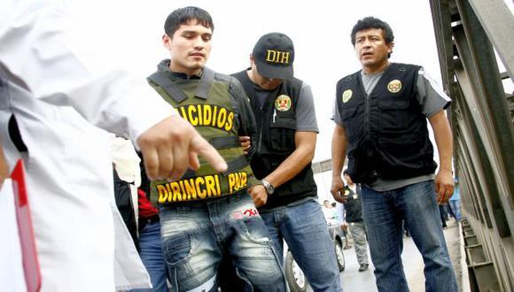 Bryan Romero fue trasladado en medio de fuerte medidas de seguridad. (USI)