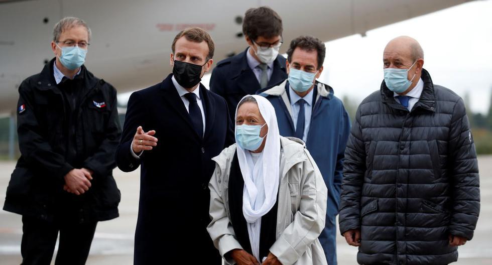 Pétronin, dedicada a atender la desnutrición infantil en Mali, fue capturada por Al Qaeda en el 2016. Su liberación ha significado, además, que no hay más franceses registrados como secuestrados en el mundo. (Foto: Gonzalo Fuentes / AFP)