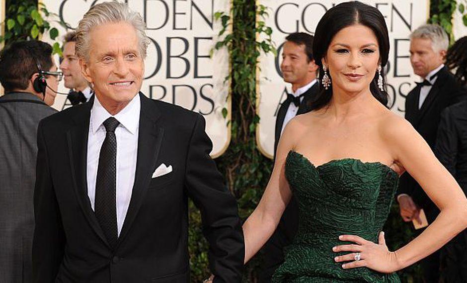 Michael Douglas y Catherine Zeta-Jones volvieron a reconciliarse. (AFP)