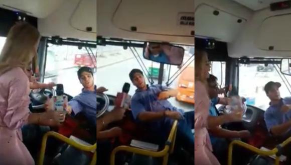 Mario Irivarren se disfrazó cómo cobrador de bus y cantó 'Despacito' (Youtube)