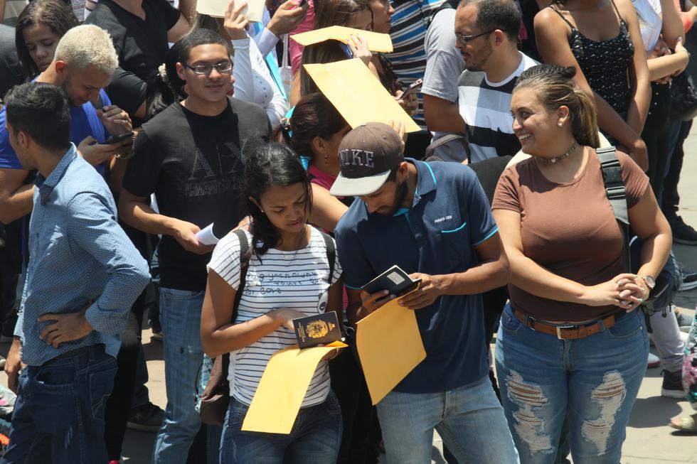 Migraciones informó que durante el 2017 y 2018, Lima Metropolitana y Callao albergan el 92% de ciudadanos venezolanos. (Foto: GEC)