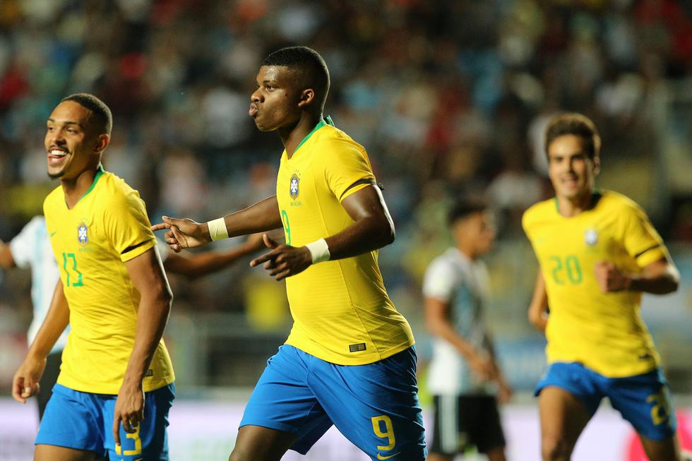 Brasil quedó fuera del Mundial Sub 20 pese a ganar 1-0 a Argentina . (AFP)
