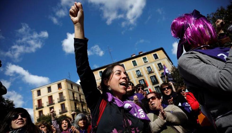 Huelga feminista y cientos de marchas en todo España por el Día de la Mujer. (Foto: EFE)