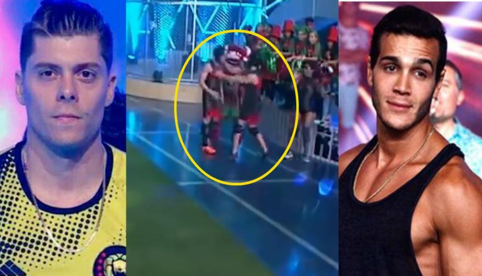 Ignacio Baladán y Mario Irivarren  se fueron a las manos y dura decisión del Tribunal sorprendió a todos los fanáticos de 'Esto es guera'.  (Fotos: Captura de pantalla)