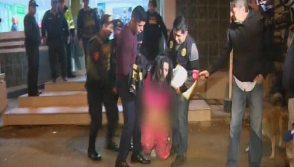Detenida fue llevada a la Dirincri.  (América Noticias)