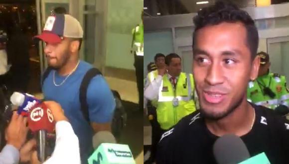 Jefferson Farfán y Renato Tapia llegaron a Lima en medio de gran alboroto en el Aeropuerto Internacional Jorge Chávez. (Video: Facebook captura)