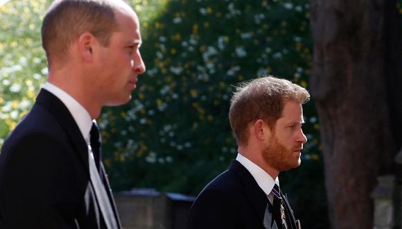 Enrique de Sussex y Guillermo de Cambridge. (Foto: AFP)