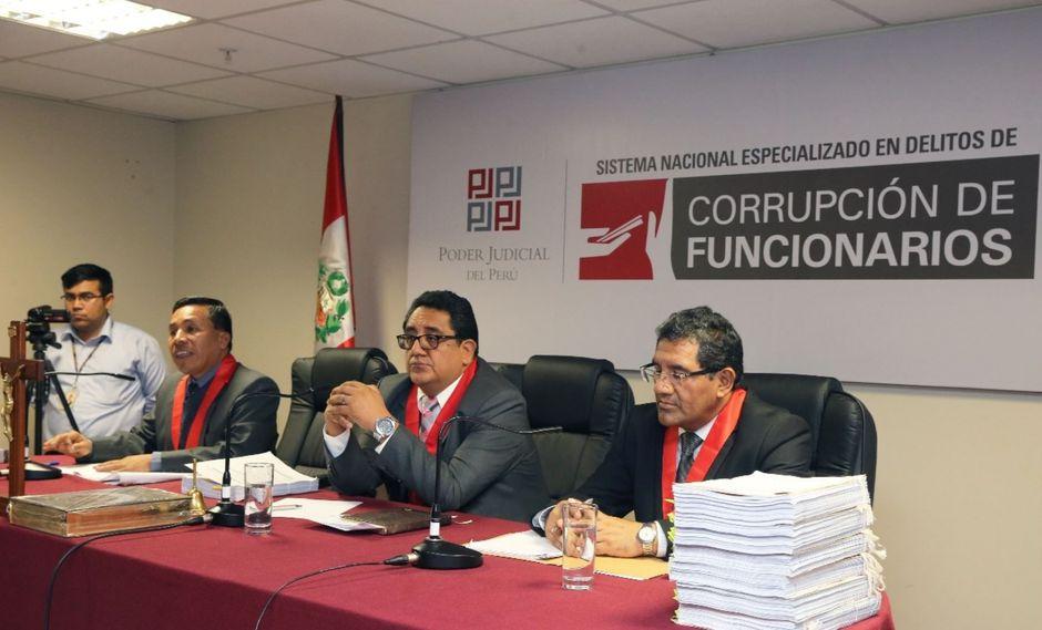 Ramiro Salinas Siccha, quien preside la Primera Sala de Apelaciones (sentado al centro), será coordinador del sistema de delitos de corrupción. (Foto: Difusión)