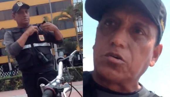 """Sereno discrimina a pareja gay en los Olivos: """"Debería darles vergüenza que ustedes estén besándose aquí"""" (Foto: captura: video)"""