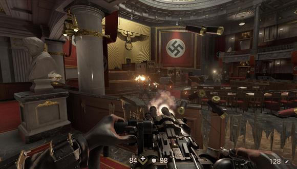 Wolfenstein 2 narra un futuro distópico en donde los nazis ganaron la Segunda Guerra Mundial y el jugador debe enfrentarlos en Estados Unidos. (Captura: PC Invasion)