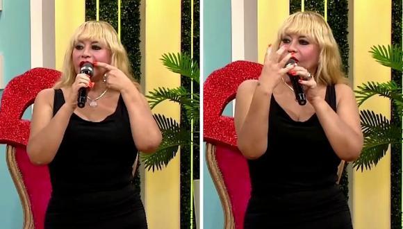 Susy Díaz cuenta que se le hincharon los labios cuando se los tatuó de rojo. (Foto: Captura América TV).